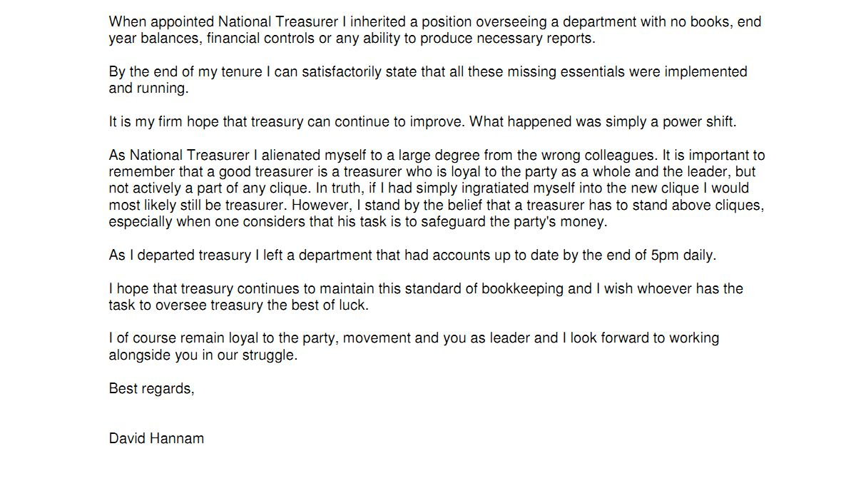 David HannamS Resignation Letter Leaked  Establishmentwatch